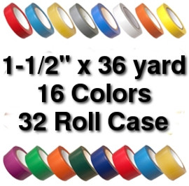 Vinyl Marking Tape 1-1/2 inch x 36 yard Roll (32 Roll/Pack)