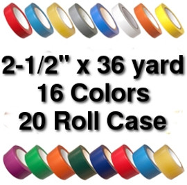 Vinyl Marking Tape 2-1/2 inch x 36 yard Roll (20 Roll/Pack)