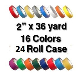 Vinyl Marking Tape 2 inch x 36 yard Roll (24 Roll/Pack)