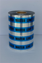 Detectable Underground Tape - Caution Buried Water Line Below - 12 inch x 1000 ft Roll (2 Roll/Pack)