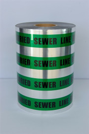 Detectable Underground Tape - Caution Buried Sewer Line Below - 12 inch x 1000 ft Roll (2 Roll/Pack)