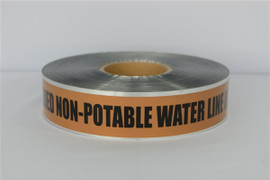 Detectable Underground Tape - Caution Buried Non-Potable Water Line Below - 2 inch x 1000 ft Roll