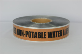 Detectable Underground Tape - Caution Buried Non-Potable Water Line Below - 2 inch x 1000 ft Roll (12 Roll/Pack)