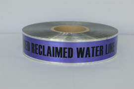 Detectable Underground Tape - Caution Buried Reclaimed Water Line Below- 2 inch x 1000 ft Roll (12 Roll/Pack)