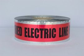 Detectable Underground Tape - Caution Buried Electric Line Below - 2 inch x 1000 ft Roll (12 Roll/Pack)