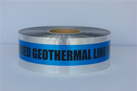 Detectable Underground Tape - Caution Buried Geothermal Line Below - 3 inch x 1000 ft Roll (8 Roll/Pack)