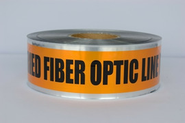 Detectable Underground Tape - Caution Buried Fiber Optic Line Below - 3 inch x 1000 ft Roll (8 Roll/Pack)