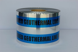 Detectable Underground Tape - Caution Buried Geothermal Line Below - 6 inch x 1000 ft Roll (4 Roll/Pack)