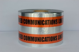 Detectable Underground Tape - Caution Buried Communication Line Below - 6 inch x 1000 ft Roll (4 Roll/Pack)