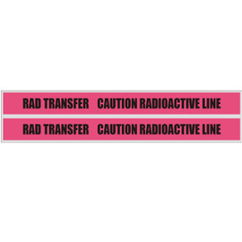 Detectable Underground Tape - RAD TRANSFER CAUTION RADIOACTIVE LINE - 6 inch x 1000 ft roll (8 Roll/Pack)