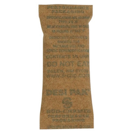 Kraft Clay Desiccants 1 inch x 2 1/2 inch x 1/4 inch (1200 Per/Pack)
