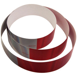 DOT C2 Oralite Retroreflective Tape 2 inch x 18 inch (3) Strips (10 Year) 11 inch Red 7 inch White