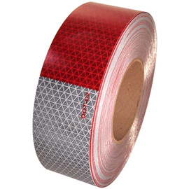 DOT C2 Oralite Retroreflective Tape 2 inch x 50 yard Roll (5 Year) 11 inch Red 7 inch White