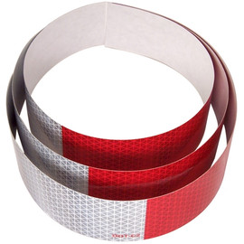 DOT C2 Oralite Retroreflective Tape 2 inch x 18 inch (3) Strips (5 Year) 11 inch Red 7 inch White