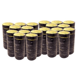 Premium All Weather 8 mil Black Electrical Tape 1.5 inch x 66 ft (64 Roll/Pack)
