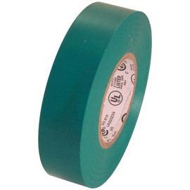 Green Electrical Tape 3/4 inch x 66 ft Roll 7 mil