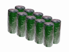 Green Electrical Tape 3/4 inch x 66 ft Roll 7 mil (100 Roll/Pack)