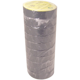 Gray Electrical Tape 3/4 inch x 66 ft Roll 7 mil (10 Pack)
