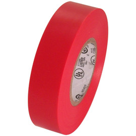 Red Electrical Tape 3/4 inch x 66 ft Roll 7 mil