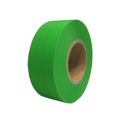 Fluorescent Green Flagging Tape 1 3/16 inch x 150 ft Roll Non-Adhesive