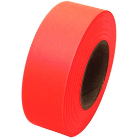 Fluorescent Orange Flagging Tape 1 3/16 inch x 150 ft Roll Non-Adhesive