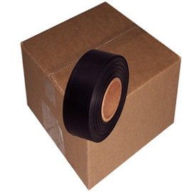 Black Flagging Tape 1 3/16 inch x 300 ft Roll Non-Adhesive (12 Roll/Pack)