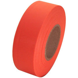 Orange Flagging Tape 1 3/16 inch x 300 ft Roll Non-Adhesive