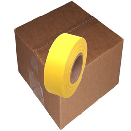 Yellow Flagging Tape 1 3/16 inch x 300 ft Non-Adhesive (12 Roll Pack)