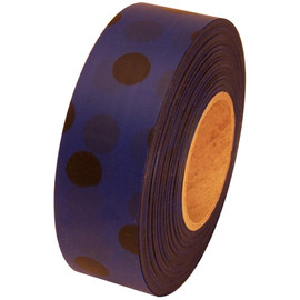 Blue and Black Polka Dot Flagging Tape 1 3/16 inch x 300 ft Roll Non-Adhesive
