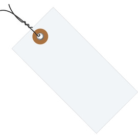 Tyvek® Pre-Wired White Shipping Tags 4 1/4 inch x 2 1/8 inch (1000 Per/Pack)