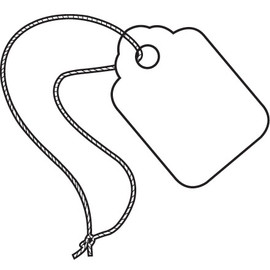 Merchandise Tags - Pre-Strung White 1 3/32 inch x 1 3/4 (1000 Per/Pack)