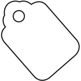 Merchandise Tags - White 1 3/4 inch x 2 7/8 inch (1000 Per/Pack)