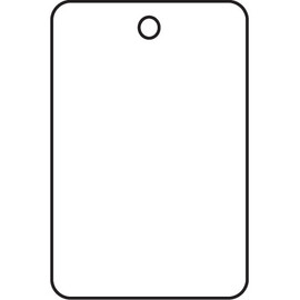 Garment Tags White 1 3/4 inch x 2 7/8 inch (1000 Per/Pack)
