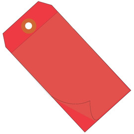 Self-Laminating Tags Red 4 3/4 inch x 2 3/8 inch 10 mil Vinyl (100 Per/Pack)