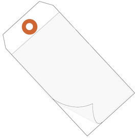 Self-Laminating Tags White 4 3/4 inch x 2 3/8 inch 10 mil Vinyl (100 Per/Pack)