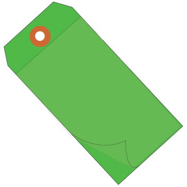 Self-Laminating Tags Green 6 1/4 inch x 3 1/8 inch 10 mil Vinyl (100 Per/Pack)
