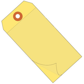 Self-Laminating Tags Yellow 6 1/4 inch x 3 1/8 inch 10 mil Vinyl (100 Per/Pack)