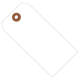 Plastic Shipping Tags White 4 3/4 inch x 2 3/8 inch (100 Per/Pack)