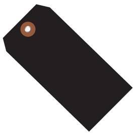 Plastic Shipping Tags Black 4 3/4 inch x 2 3/8 inch (100 Per/Pack)