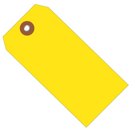 Plastic Shipping Tags Yellow 4 3/4 inch x 2 3/8 inch (100 Per/Pack)