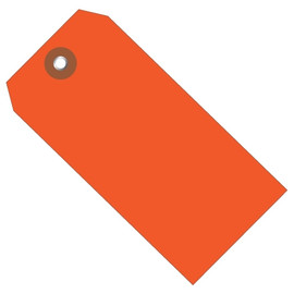 Plastic Shipping Tags Orange 4 3/4 inch x 2 3/8 inch (100 Per/Pack)