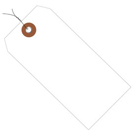 Plastic Pre-Wired Shipping Tags White 6 1/4 inch x 3 1/8 inch (100 Per/Pack)