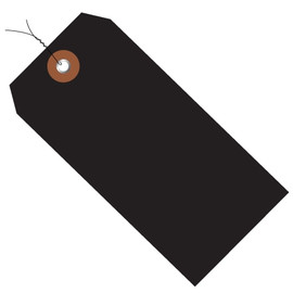 Plastic Pre-Wired Shipping Tags Black 6 1/4 inch x 3 1/8 inch (100 Per/Pack)