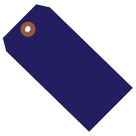 Plastic Shipping Tags Blue 6 1/4 inch x 3 1/8 inch (100 Per/Pack)