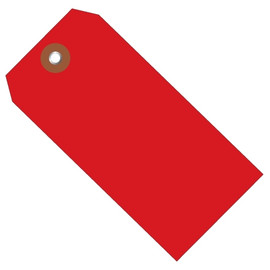 Plastic Shipping Tags Red 6 1/4 inch x 3 1/8 inch (100 Per/Pack)