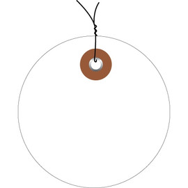 Plastic Pre-Wired Circle Tags White 3 inch (100 Per/Pack)