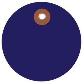 Plastic Circle Tags Blue 3 inch (100 Per/Pack)