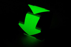 Cut Out Stick on 4 inch Glow Arrows (100 Pack)