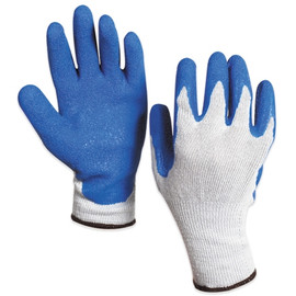 Rubber Coated Palm Gloves - Large (12 Pairs)
