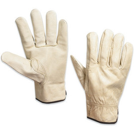 Cowhide Leather Drivers Gloves - Large (3 Pairs)